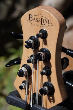 Headstock of bass