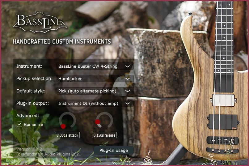 Screenshot VST3 Plugin: BassLine Handcrafted basses v.1